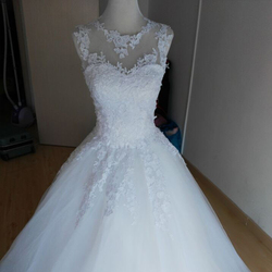 ZJ9036 Sweetheart White Ivory Lace Wedding Dresses Tulle Gown Ball Gown Bride Dress 2017 Size 2-26W Custom made Free Shipping 4