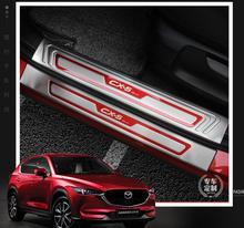 8 шт. стайлинга автомобилей для Mazda CX-5 CX 5 CX5 порога Накладка потертости пластин гвардии протектор защиты Стикеры 2017 2018