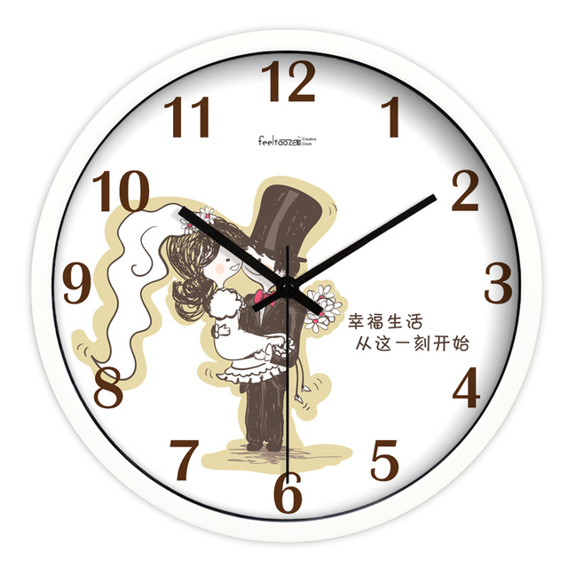 Household Products Wall Watch Clock Silver Modern Design Chinese Style  Mural Quiet Large Fashion Wall Clock