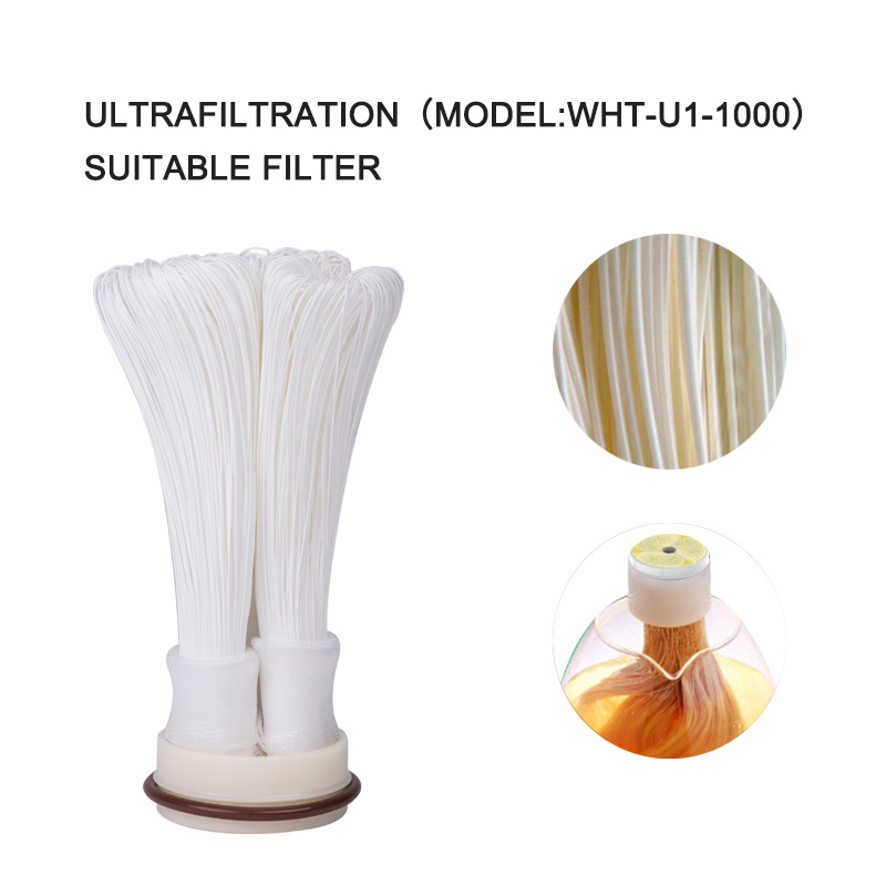 Wheelton Cartridge 304 Stainless Steel Water Filter PVDF Ultrafiltration Purifier 1000L Home Kitchen Drink Straight UF