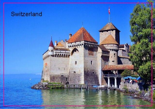 Tourist Magnets Switzerland Geneva Souvenir Photo Fridge