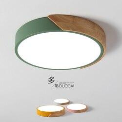 Ultra-cienkie drewniane lampy sufitowe LED na żyrandole do salonu oprawa sufitowa na nowoczesna lampa sufitowa