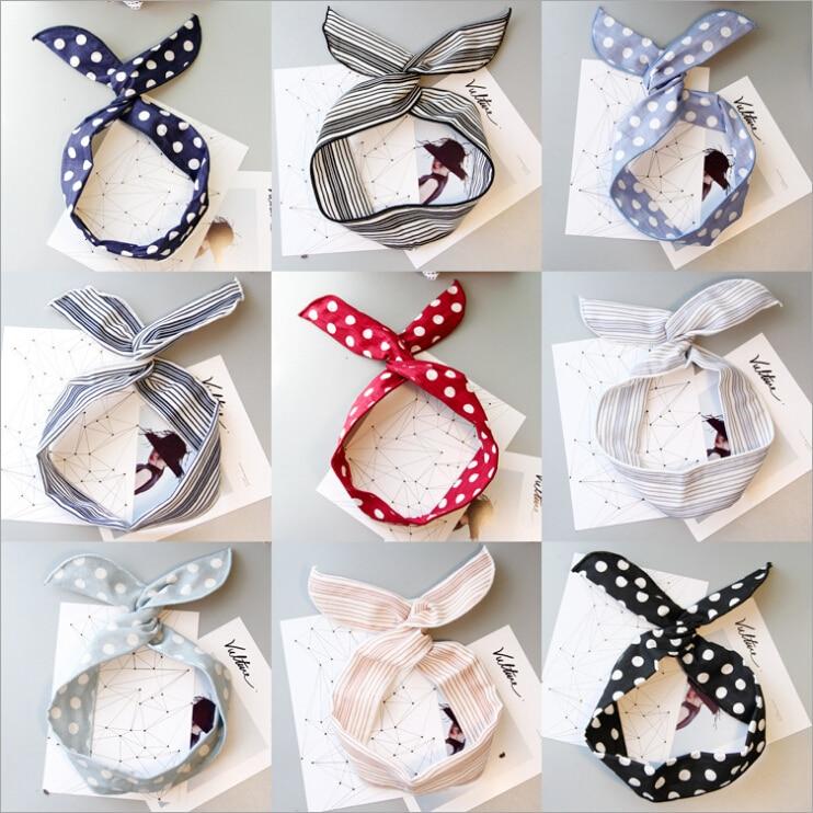 summer fashion rabbit bunny ears women bow headband hair head band hoop accessories for women girls scrunchy hairband headdress