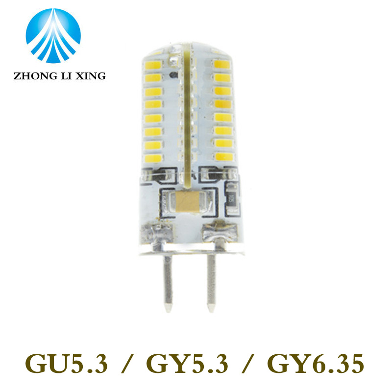 цена на 5pcs/lot led gu5.3 220v 3014 64 72 120V smd led g5.3 220v crystal Light chandelier Spotlight bulb 220v gy6.35 led 220v g5.3