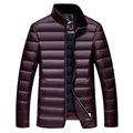 De invierno chaqueta de plumón de pato por la chaqueta masculina, 90% de la luz hacia abajo, ropa de hombre de manga larga pocket plus-size envío gratis
