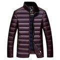 Inverno jaqueta de pato para baixo para baixo jaqueta masculina, 90% da luz para baixo jaqueta, desgaste de manga longa bolso dos homens plus-size frete grátis