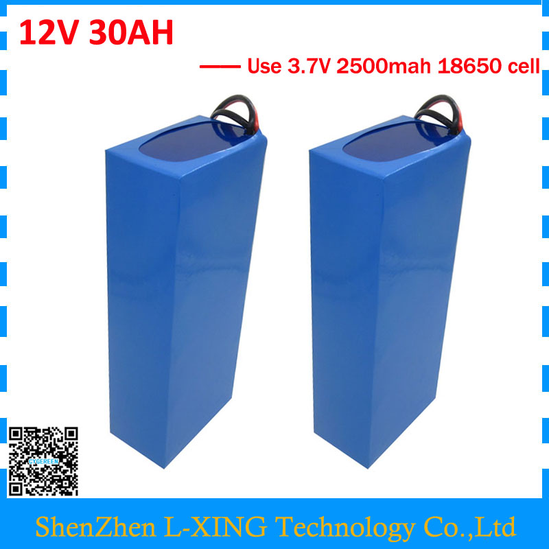 Free customs fee 12V 30AH battery 12 V 30AH 30000MAH Lithium ion battery for 12V 3S Battery 3A charger Wholesale 2pcs/lot free customs fee 350w 12v 40ah battery 12 v 40000mah lithium ion battery for 12v 3s rechargeable battery 12 6v 5a charger