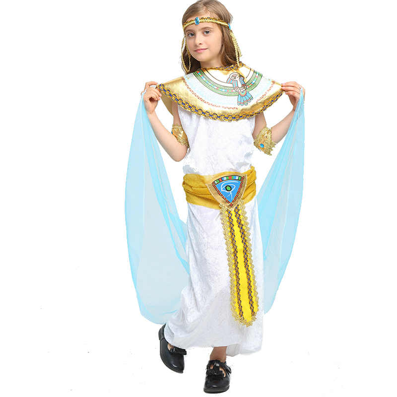 37021ba4385 ... Halloween Costumes Boy Girl Ancient Egypt Egyptian Pharaoh Cleopatra  Prince Princess Costume for Children Kids Cosplay ...