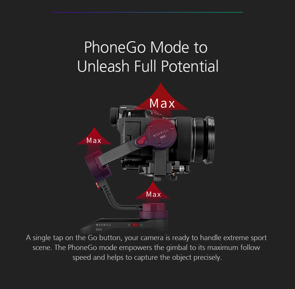 ZHIYUN Official Weebill LAB 3-Axis Image Transmission Stabilizer for Mirrorless Camera OLED Display Handheld Gimbal 13