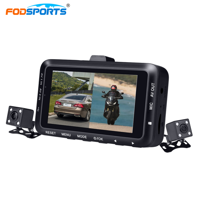 Fodsports 3 Inch DV168  Motorcycle DVR Motorbike Video Recorder
