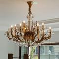 Europäischen Kristall-kronleuchter Alle Kupfer Kronleuchter Wohnzimmer Kerze Led-lampen Restaurant Pure gold Luxus Kupferlampe