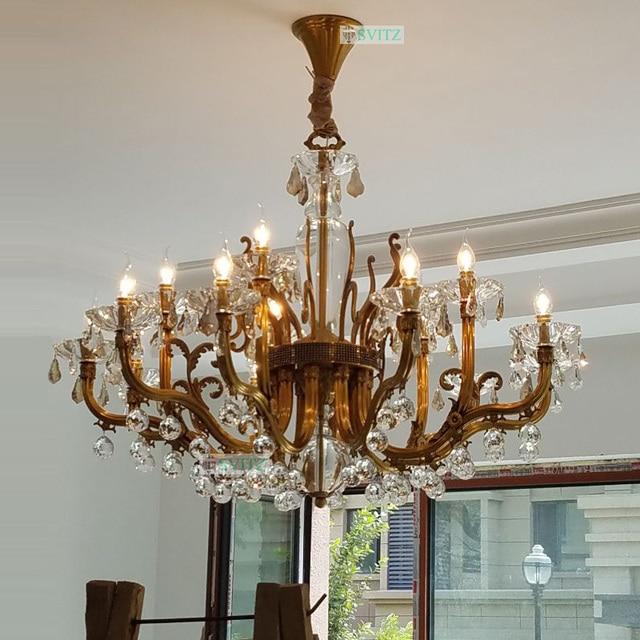 European crystal chandelier all copper chandeliers living room european crystal chandelier all copper chandeliers living room candle led lamps restaurant pure gold luxury copper aloadofball Gallery