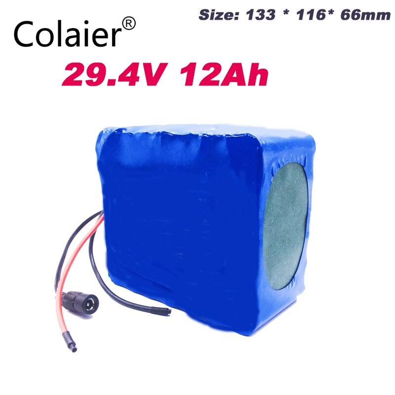 Paquet de batterie de Colaier 24 v 12ah 7S6P 15A BMS 250 w 29.4 V 12000 mAh paquet de batterie pour le moteur électrique de fauteuil roulant