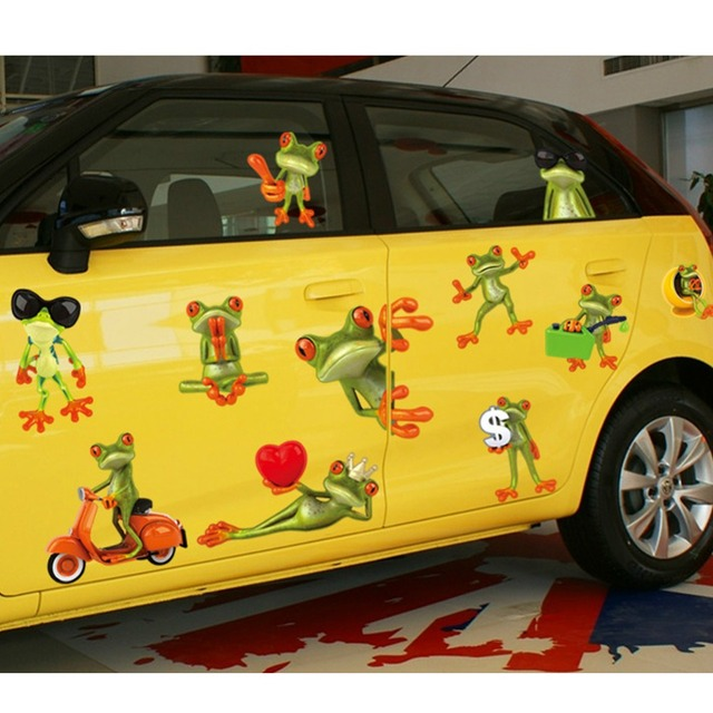 Funny big eyes frogs car decal home wall sticker paper removable art picture murals kids baby