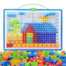 296Pcs Mushroom Nails Jigsaw Puzzle Game Creative Mosaic Pegboard Educational Toys for Children  puzzle box KIDS TOYS