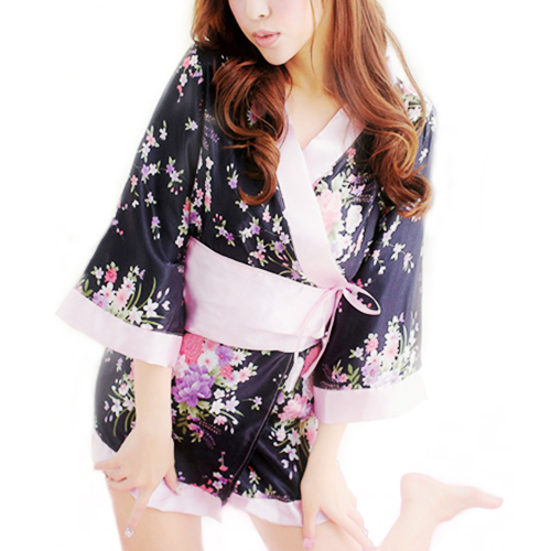 Japanese Kimono Stage Evening Sexy Lingerie Dress Bath Robe Sauna Miss Clothing hot BJH6