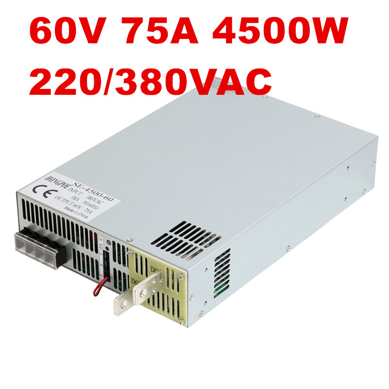 4500W 60V 75A DC0-60V power supply 60V75A AC-DC High-Power PSU 0-5V analog signal control SE-4500-60 DC60V 75A 4500w 36v 125a dc0 36v power supply 36v125a ac dc high power psu 0 5v analog signal control se 4500 36 dc36v 126a