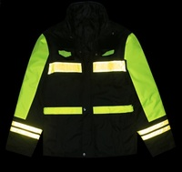 Thicken Thermal Reflective Cotton Coat Safety Warning Clothing High Roadway Traffic Rescue Coats