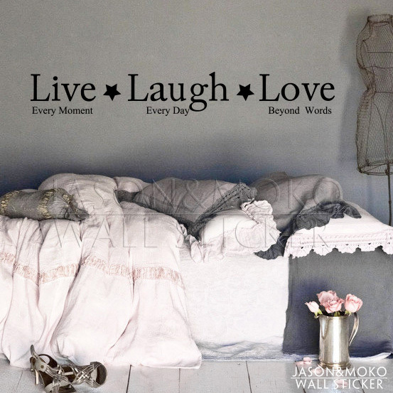 Live laugh love new products for 2013 stickers child for home mural wallpape r stickers wall decor 15*100CM Free shipping