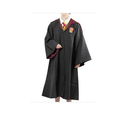 hot selling !! free shipping walson Unisex Child Robe Costume Cpsplay Cloak Cape Students Clothing without tie size s- 2xl