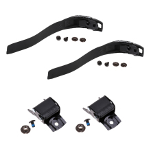 2 Set Replacement Sturdy Inline Roller Skating Skate Shoes Energy Strap With Screws nuts + Buckle Black