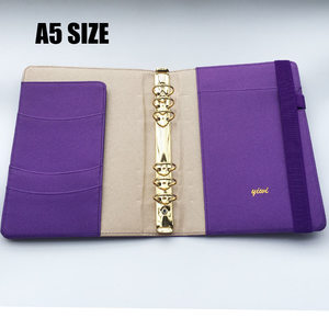 Image 4 - YIWI New A5 A6 A7 Purple Color Gold Ring Planners Agenda Notebooks Journal Kawaii DIY Stationery Wholesale Dokibook Abook