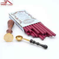 Office Supplies Sealing Wax Set With Classic Wine Red Wax Sticks For DIY Craft Stamp Customised