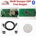 Высокое Качество WoW Snooper V5.008 R2 С Keygen CDP Bluetooth один Зеленый Доска Авто OBD2 Сканер Лучше, Чем TCS CDP Pro