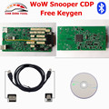 High Quality WoW Snooper CDP V5.008 R2 With Keygen Bluetooth Single Green Board Auto OBD2 Scanner Better Than TCS CDP Pro