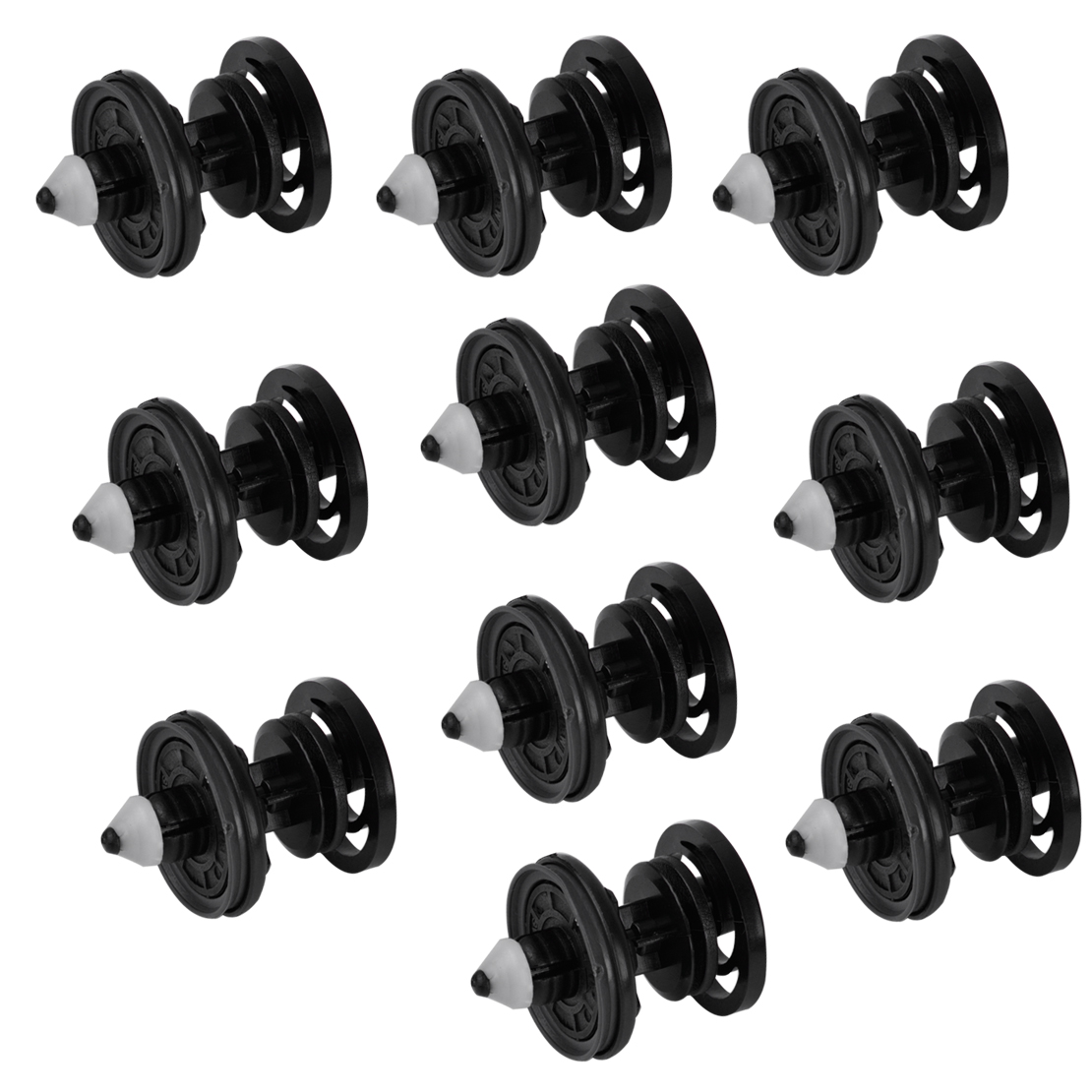 DWCX 10Pcs Black Interior Nylon Door Trim Panel Push Type Fastener Clip  7L6868243 8679426 for Audi Q5 A4 VW Passat Golf Beetle