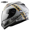 Nenki jolly rogers marinha motocicleta full face helmet capacete da motocicleta cascos capacetes kask casque moto equitação corrida de leme
