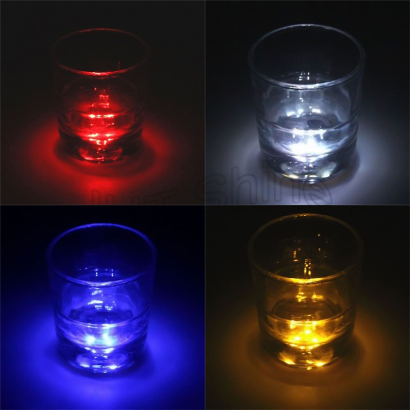 5pcs LED Decoration Light Bottle Stickers LED Glorifier Mini Light LED Coaster Cup Mat for Party Bar Club Vase Xmas Wine Glass
