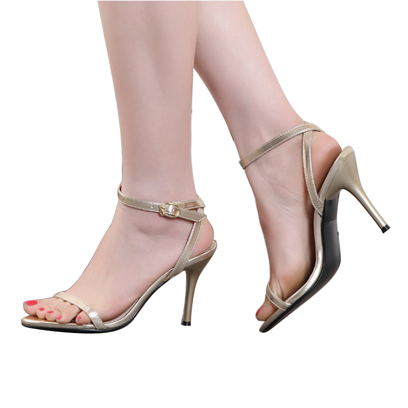 ФОТО New women shoes for a word type trap stiletto simple sandals zapatos mujer ST4