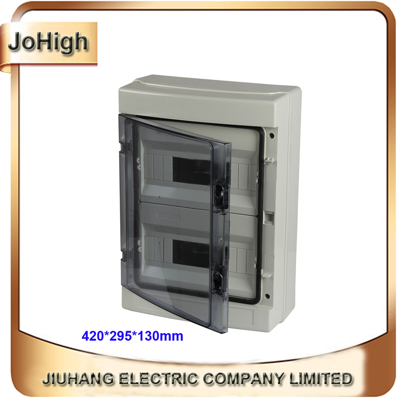 Top Quality PVC Cover ABS body IP66 Transparent Cover Waterproof Outdoor Distribution Box 24 way Circuit breaker Box 2015 best hot sale ip65 waterproof electrical distribution box with transparent cover 80 110 85mm ds at 0811 1