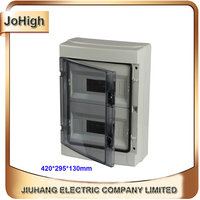 Top Quality PVC Cover ABS body IP66 Transparent Cover Waterproof Outdoor Distribution Box 24 way Circuit breaker Box
