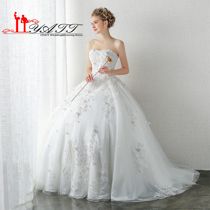 Make Your Own Wedding Dress: LIYATT Real Picture Own Design 2016 New Strapless Ball