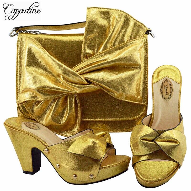Nigeria Talons Noir Italienne rouge Couleur Sac fuchsia Style pourpre Noir Chaussures Haute La Ym006 or vert Et Partie Pompes Pour Ensemble Blue royal Femme Capputine F4YqwdF