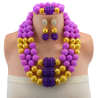 Women Gift African Jewelry Set Purple Nigerian Wedding Beads Crystal Bridal Jewelry Sets Free Shipping