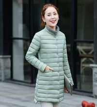 2016 Winter Women Standing Collar Irregular Single-Breasted Coat Pure Color Long Sleeve  Down Jacket Fashion Slim Big Yards E013