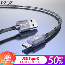 PZOZ USB Type C Fast Charging usb c cable Type-c data Cord USB Charger cable For ipad pro Samsung S9 S8 Note 9 8 Xiaomi huawei(China)