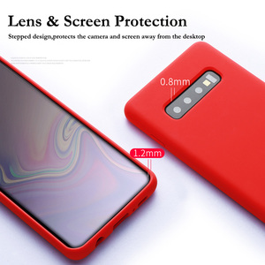 Image 4 - Liquid Silicone Case For Samsung Galaxy A50 A70 S10 Note10 Plus Soft Back Matte Case For Samsung Note10 8 9 S8 S9 S10 Plus Cover