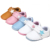 9 Estilo Bonito Padrão Genuínos Mocassins De Couro Do Bebê Sapatos de Bebê macio Primeira Walker Sapatos Chaussure Bebe Recém-nascidos
