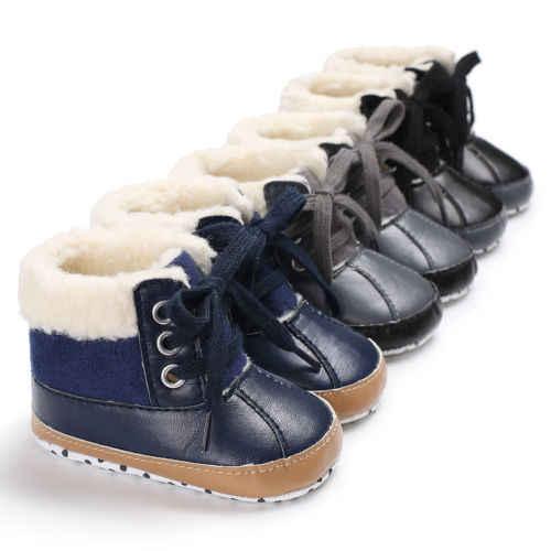 Emmababy recién nacido chico niña bebé nieve zapatos invierno suave suela para bebés cuna botas de felpa caliente