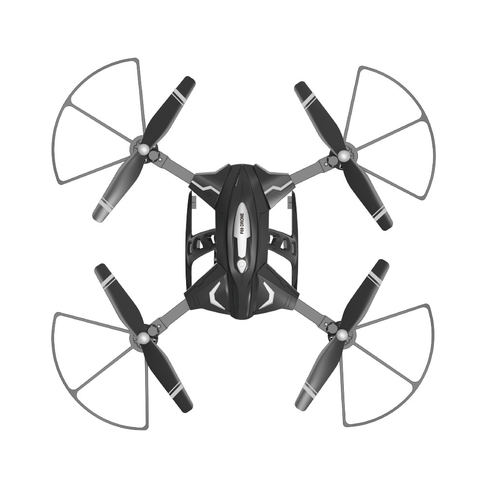 Image 2 - Portable Suitable Charging F69Pro 2.4G 5MP 1080P Wide Angle WIFI FPV HD Camera Foldable  RC Drone  Quadrocopt Helicopter-in RC Helicopters from Toys & Hobbies