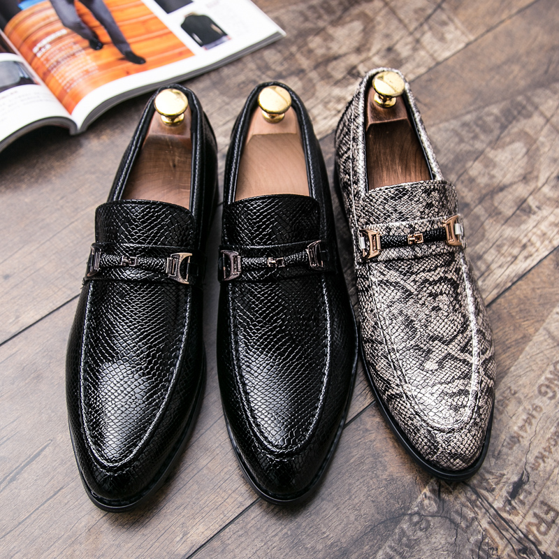 men's snake skin cool platform oxfords patent leather shoes male footwear wedding fashion famous designer brogue shoes for men (5)