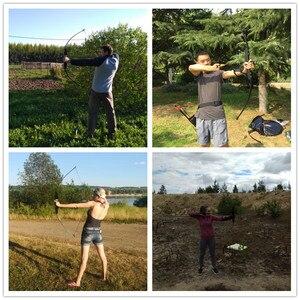Image 5 - Profissional 30/40lbs arco recurvo para a mão direita de madeira arco ao ar livre tiro com arco caça acessórios esportes cego & árvore