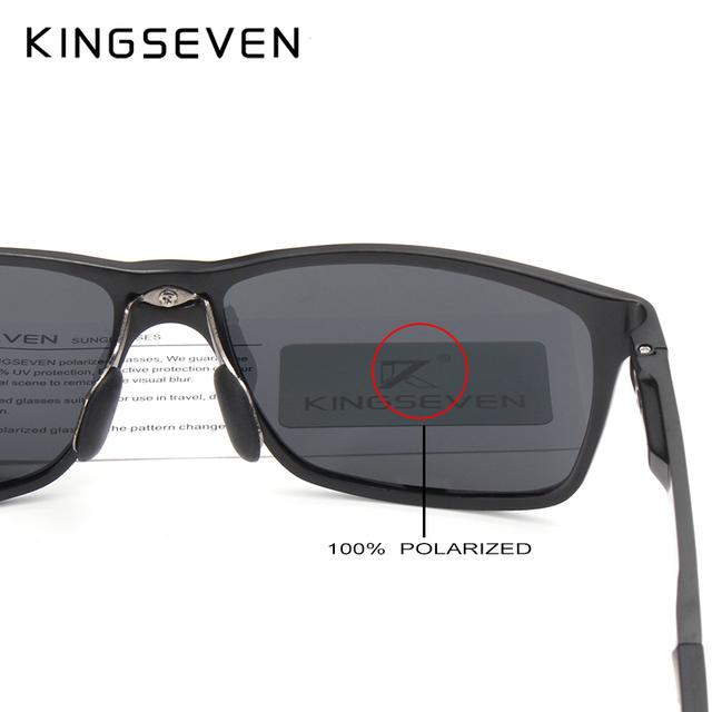 KINGSEVEN 2018 Original HD Polarized Sunglasses Brand Aluminum Magnesium Mirror Men Sport Driving Glasses Goggles Oculos De Sol