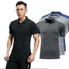Polo-Shirt Mens Short with Basketball GYM Running Badminton Soccer Quick-Dry