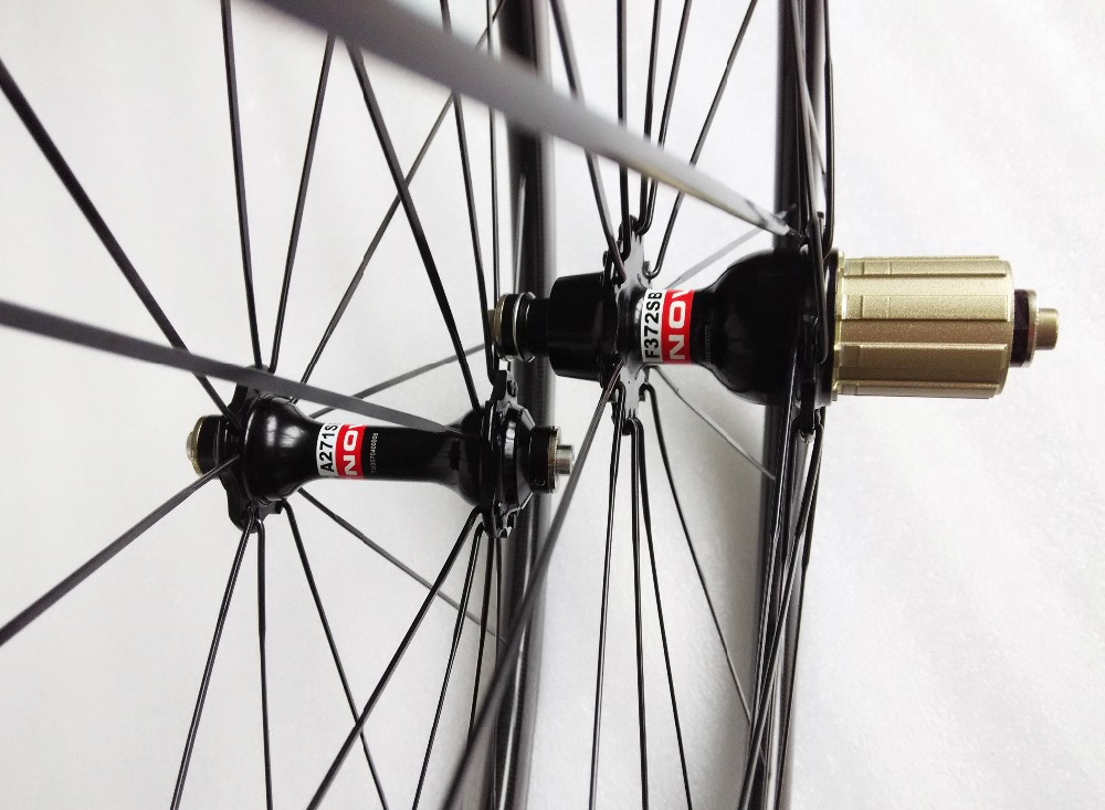 carbon wheels clincher 38mm 700C road bike clincher 38mm 3k glossy  black wheelset (5)
