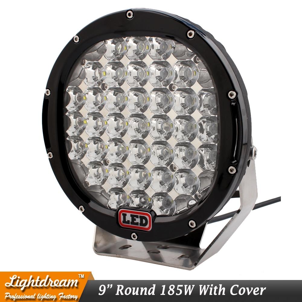 9inch 185W Round 37Leds 4x4 Offroad Light 12V Առաջնորդված - Ավտոմեքենայի լույսեր - Լուսանկար 4